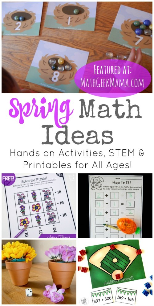 small resolution of 50+ Spring Math Ideas for Grades K-8