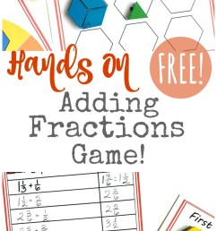 FREE} Hands On Adding Fractions Game for Kids [ 1489 x 800 Pixel ]