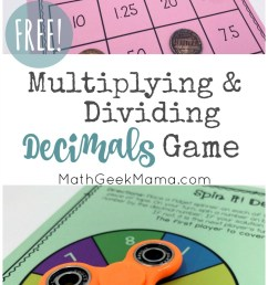 FREE} Multiplying Decimals Game for Kids with Multiple Variations [ 1397 x 800 Pixel ]
