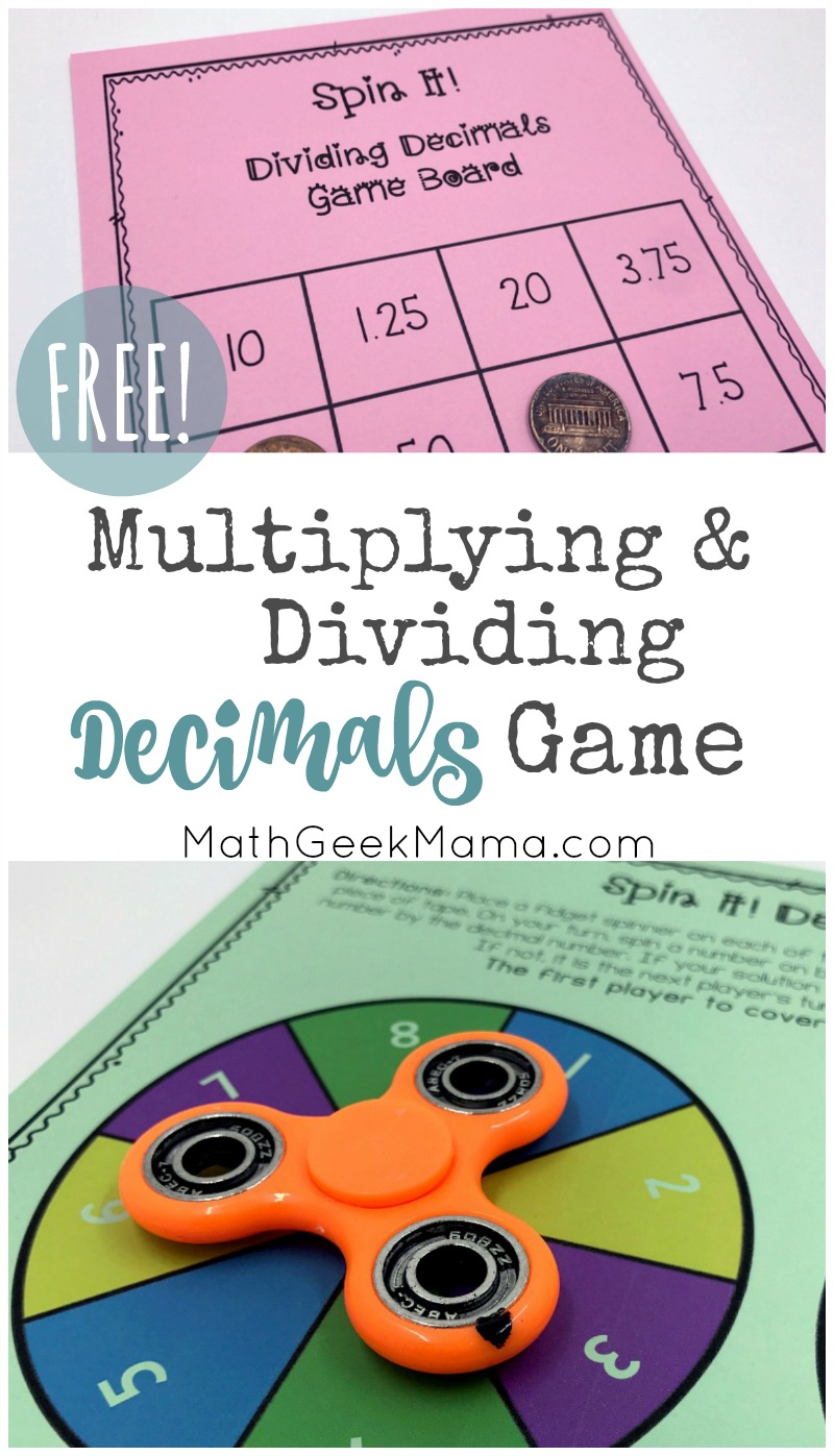 hight resolution of FREE} Multiplying Decimals Game for Kids with Multiple Variations