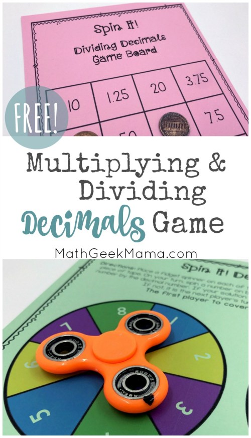 small resolution of FREE} Multiplying Decimals Game for Kids with Multiple Variations