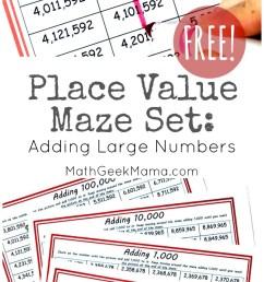 FREE} Low Prep Place Value Mazes for Grades 3-5 [ 1387 x 800 Pixel ]