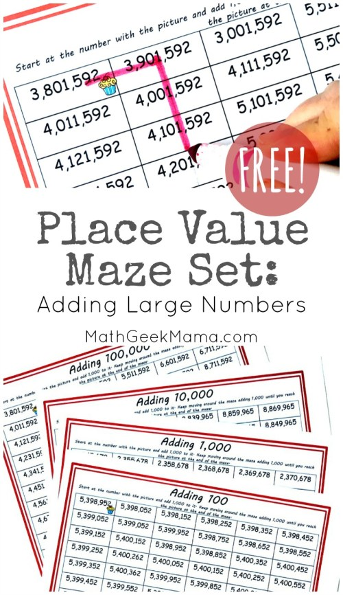small resolution of FREE} Low Prep Place Value Mazes for Grades 3-5