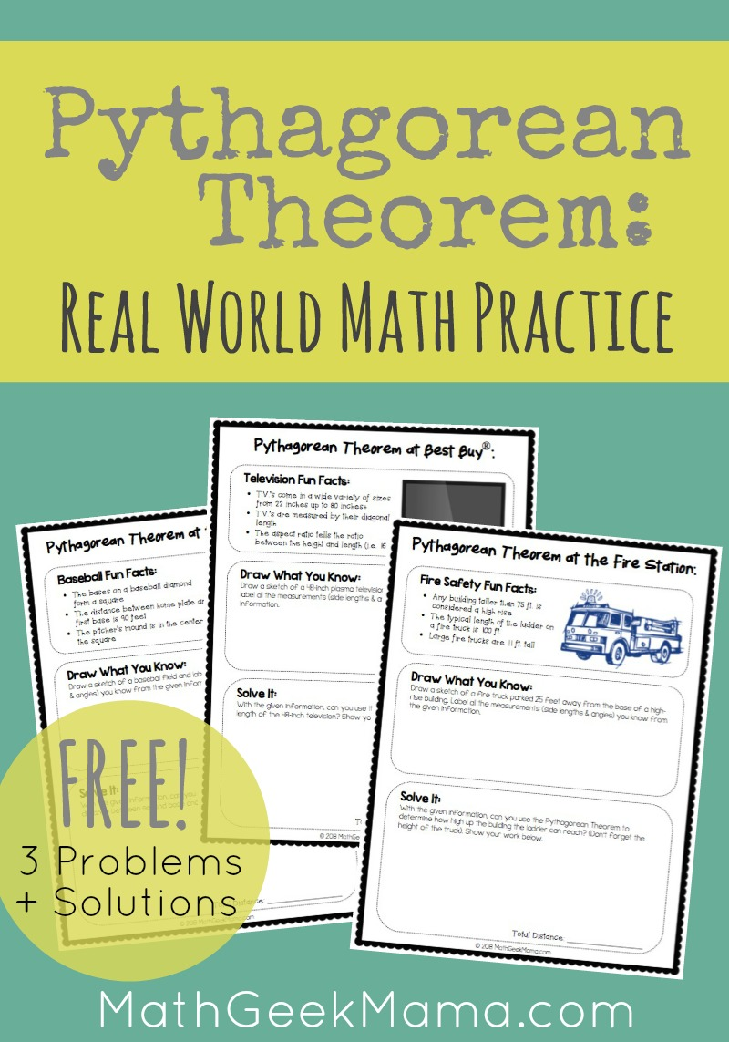 Introducing Your Kids To The Pythagorean Theorem? Or Just Looking For Some  Real Life Practice