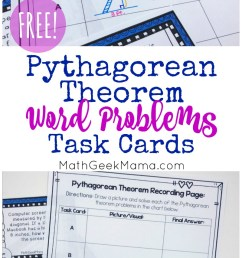 FREE} Pythagorean Theorem Word Problems Task Cards [ 1431 x 800 Pixel ]