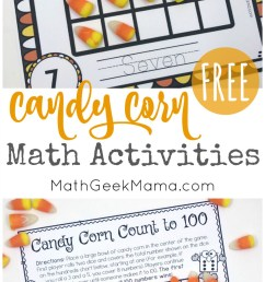 Candy Corn Math: Hands On Activities {With FREE Printables} [ 1357 x 800 Pixel ]