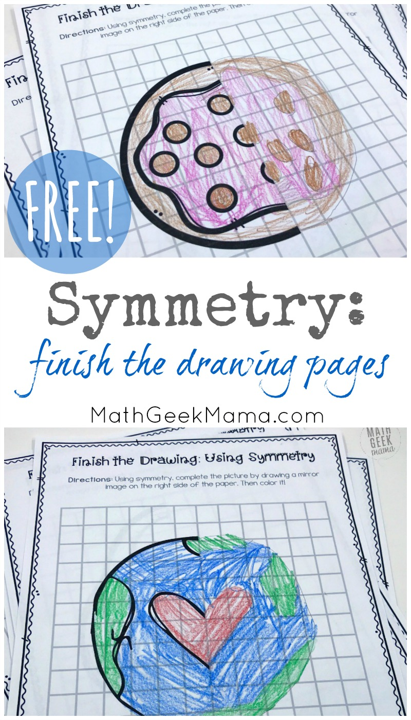 hight resolution of Symmetry: Finish the Picture Pages {Drawing Mirror Images}
