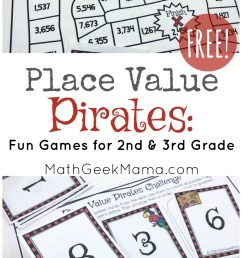 Place Value Pirates: FREE Printable Math Game [ 1394 x 800 Pixel ]