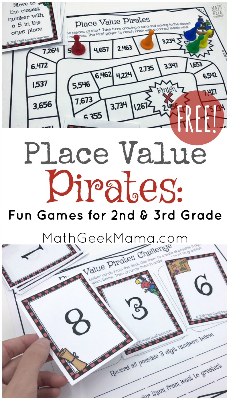 medium resolution of Place Value Pirates: FREE Printable Math Game