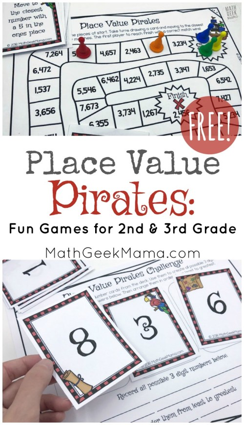 small resolution of Place Value Pirates: FREE Printable Math Game