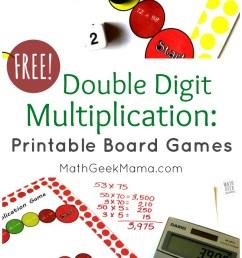 Double Digit Multiplication Practice: FREE Board Games [ 1399 x 800 Pixel ]