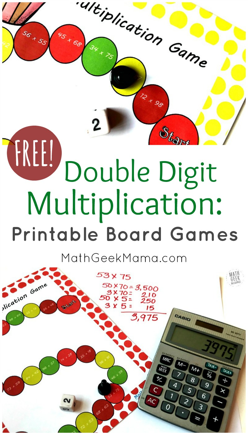 medium resolution of Double Digit Multiplication Practice: FREE Board Games