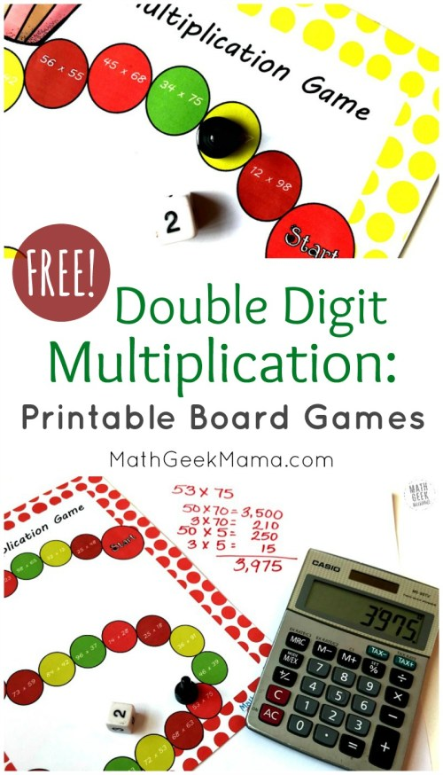 small resolution of Double Digit Multiplication Practice: FREE Board Games
