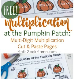 FREE} Multi-Digit Multiplication Worksheets for Fall [ 1455 x 800 Pixel ]