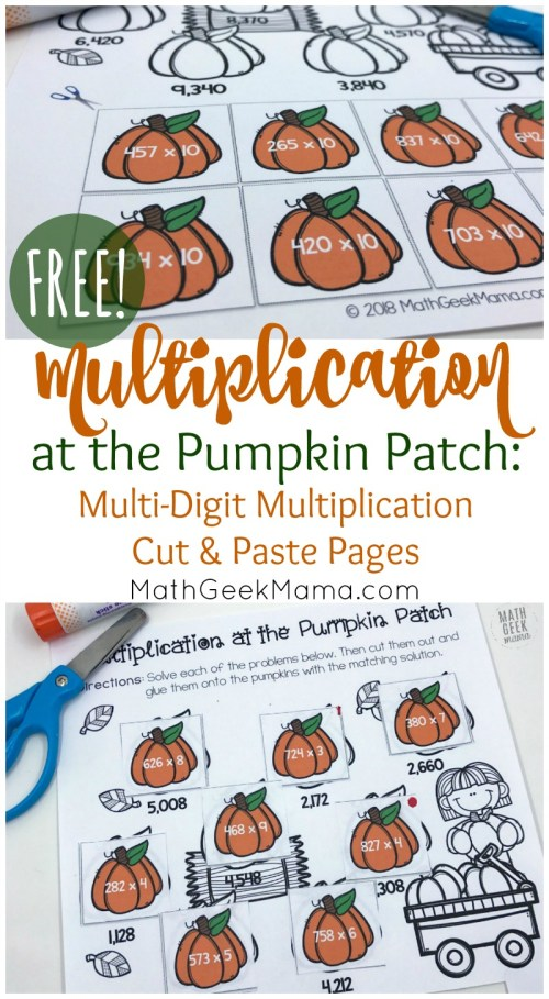 small resolution of FREE} Multi-Digit Multiplication Worksheets for Fall