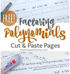 FREE} Factoring Polynomials Practice: Cut \u0026 Paste Pages [ 1346 x 800 Pixel ]