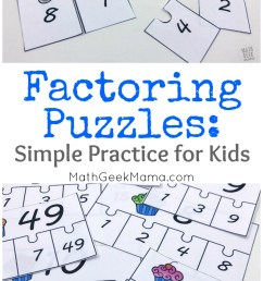FREE} Factoring Whole Numbers Puzzle Set for 4-5 Grade [ 1310 x 800 Pixel ]