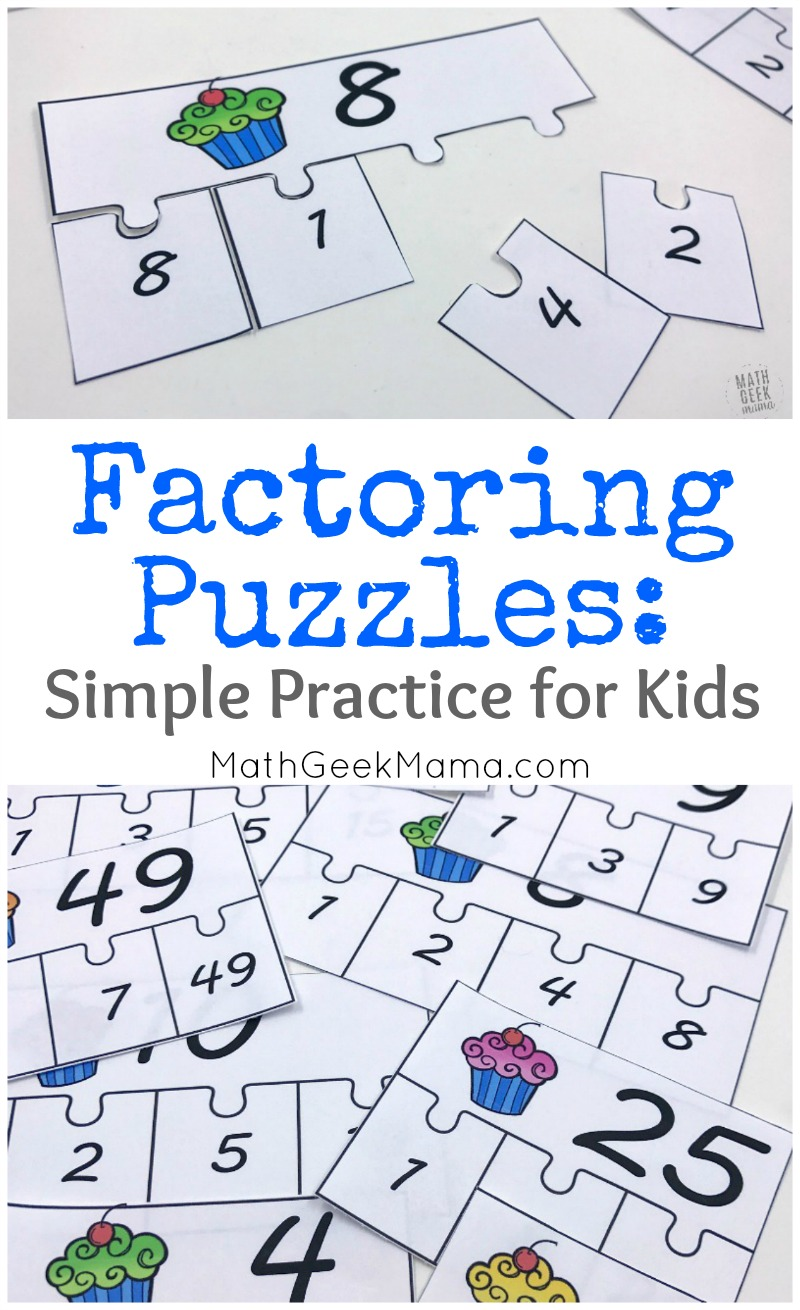 hight resolution of FREE} Factoring Whole Numbers Puzzle Set for 4-5 Grade