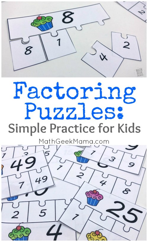 small resolution of FREE} Factoring Whole Numbers Puzzle Set for 4-5 Grade