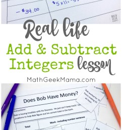 FREE} Add \u0026 Subtract Integers: Real Life Lesson [ 1378 x 800 Pixel ]