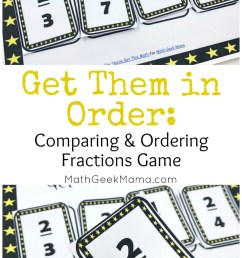 FREE} Get Them in Order: Comparing Fractions Game [ 1435 x 800 Pixel ]