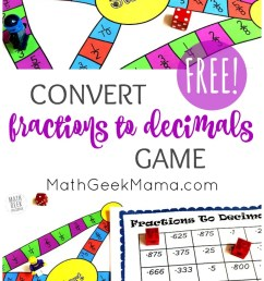 FREE} Convert Fractions to Decimals Game: Grades 4-6 [ 1424 x 800 Pixel ]
