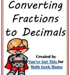 FREE} Convert Fractions to Decimals Game: Grades 4-6 [ 1186 x 914 Pixel ]
