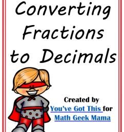 FREE} Convert Fractions to Decimals Game: Grades 4-6 [ 1186 x 914 Pixel ]
