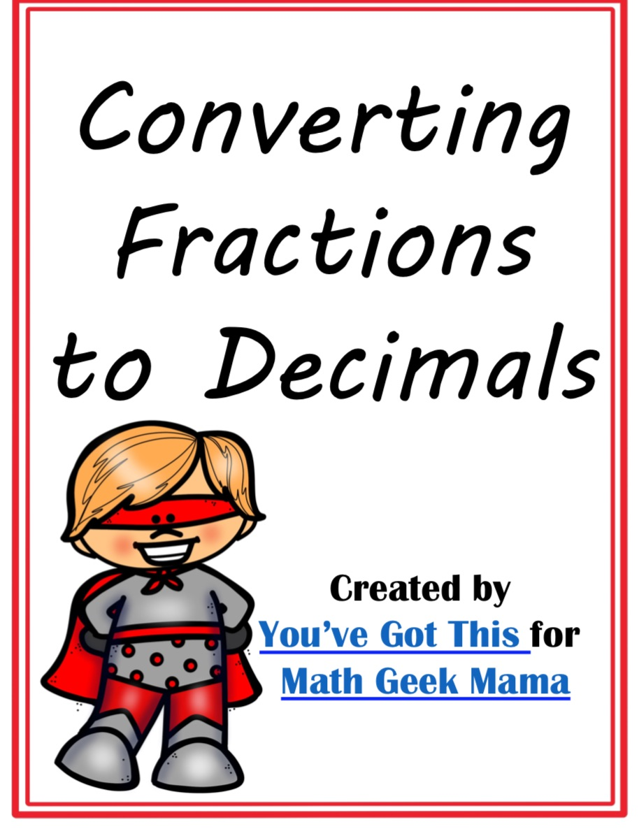 hight resolution of FREE} Convert Fractions to Decimals Game: Grades 4-6
