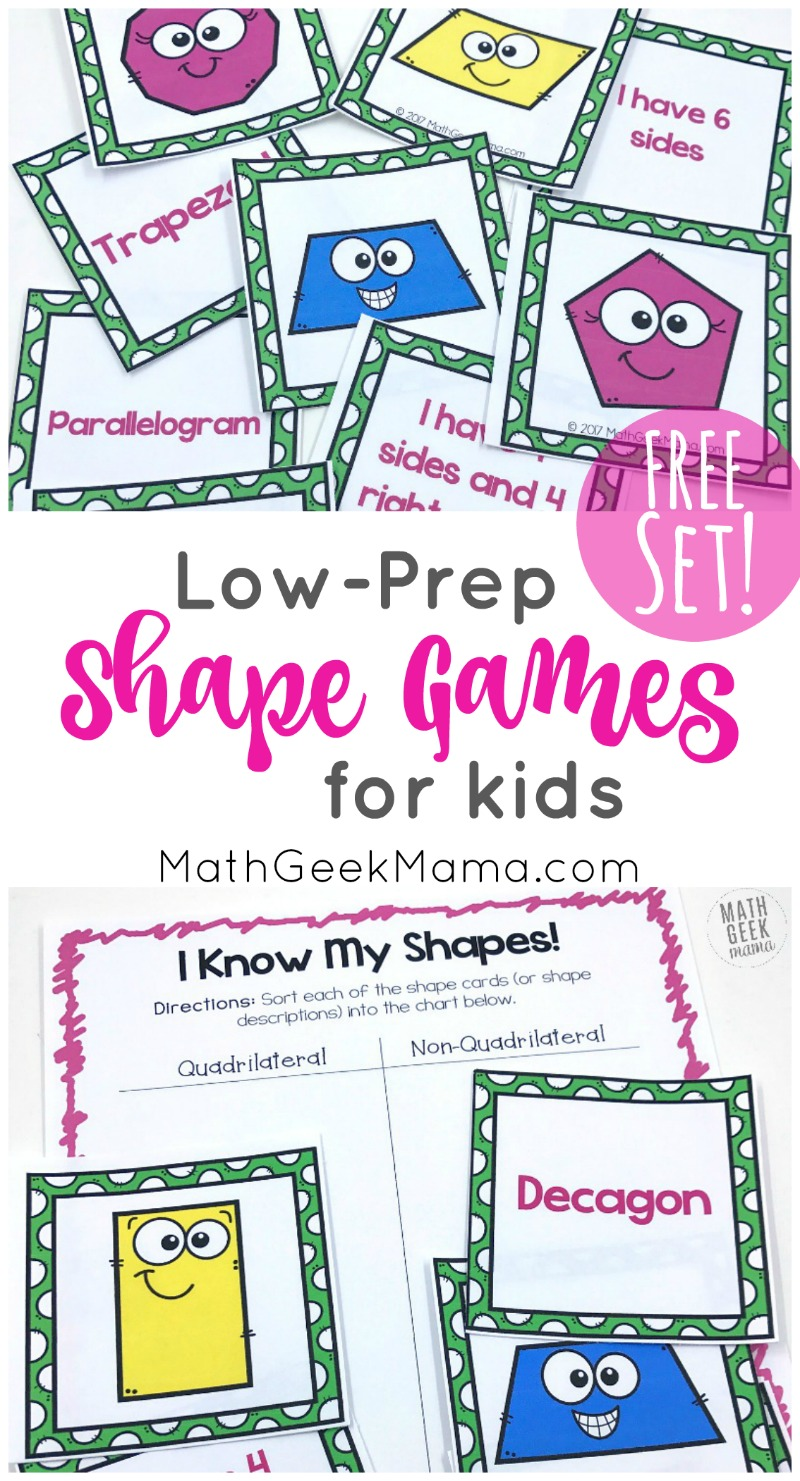 medium resolution of I Know My Shapes: FREE Shape Games for Kids