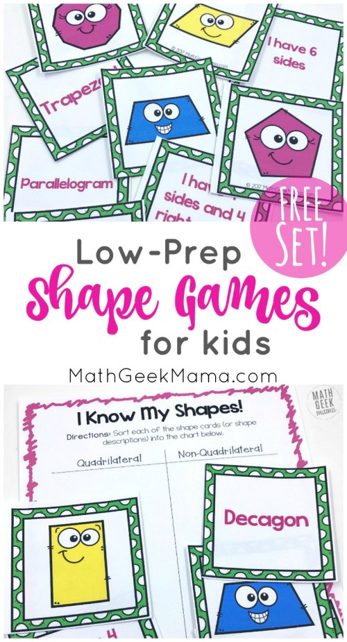 small resolution of I Know My Shapes: FREE Shape Games for Kids