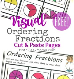 FREE} Comparing Fractions Worksheets: Cut \u0026 Paste Visual Models [ 1349 x 800 Pixel ]