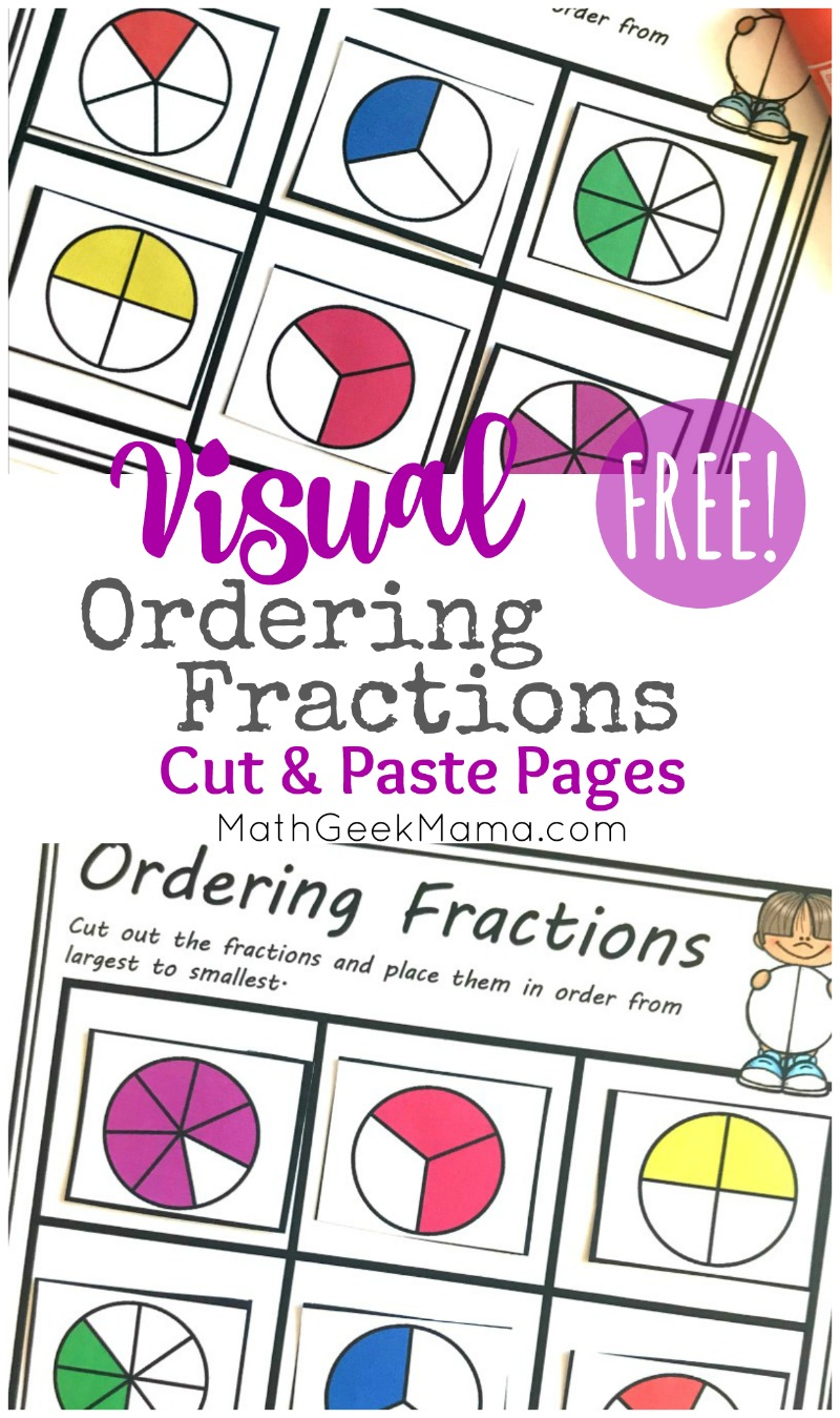 hight resolution of FREE} Comparing Fractions Worksheets: Cut \u0026 Paste Visual Models