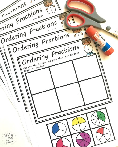 small resolution of FREE} Comparing Fractions Worksheets: Cut \u0026 Paste Visual Models