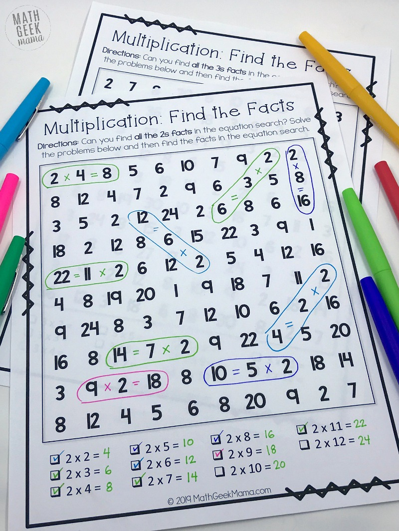 medium resolution of FREE} Equation Search: Fun Multiplication Games for 3rd Grade