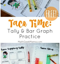 FREE} Taco Time: Tally and Bar Graph Practice [ 1397 x 800 Pixel ]