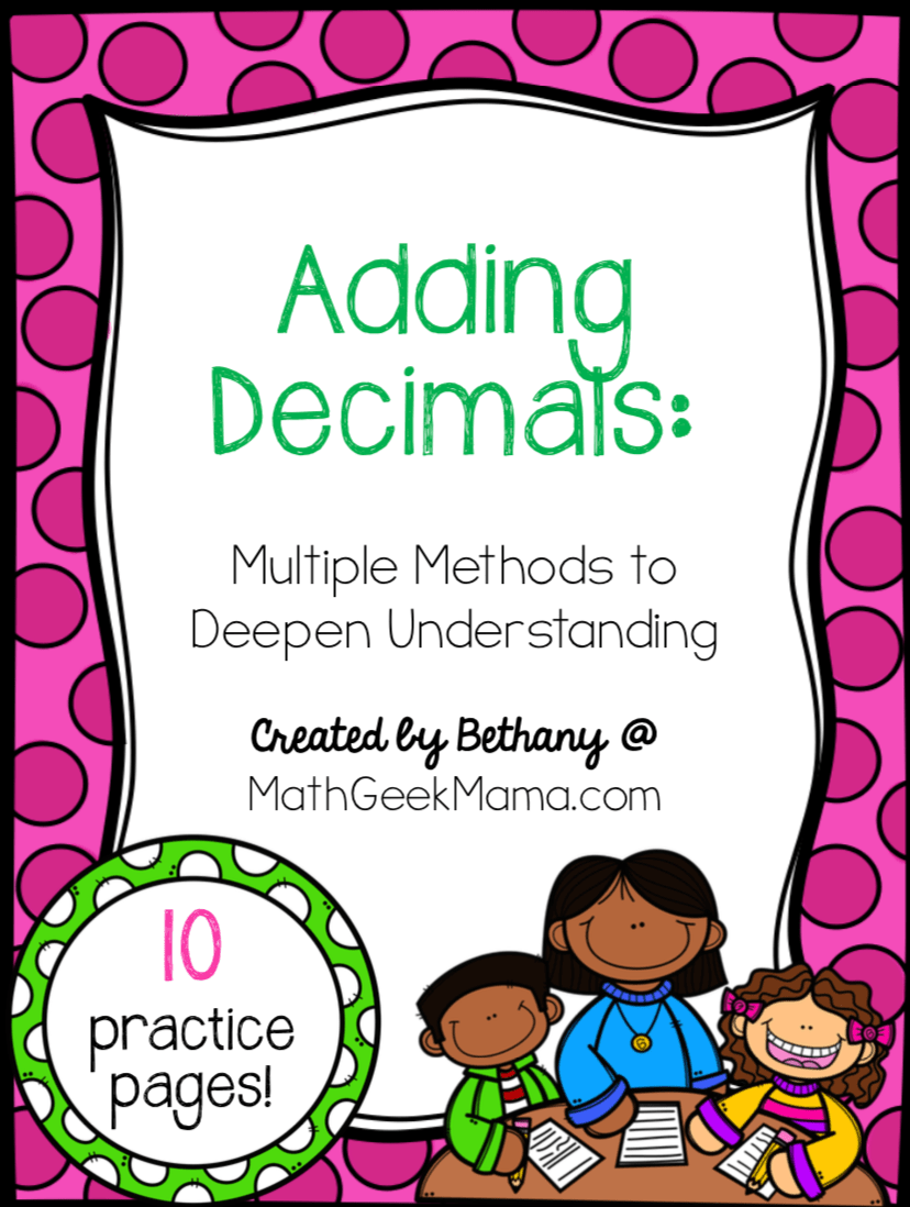 hight resolution of FREE} Adding Decimals Worksheets: Multiple Strategies