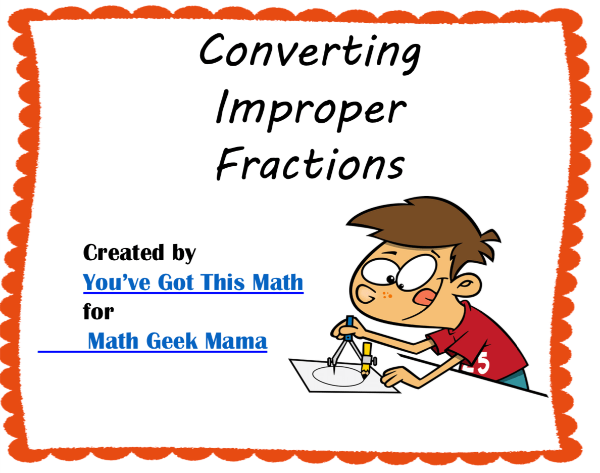 Free Convert Improper Fractions To Mixed Numbers Using