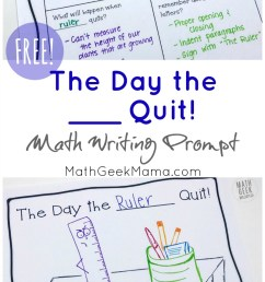 FREE} Creative Math Writing Prompt: The Day the __ Quit! [ 1588 x 800 Pixel ]