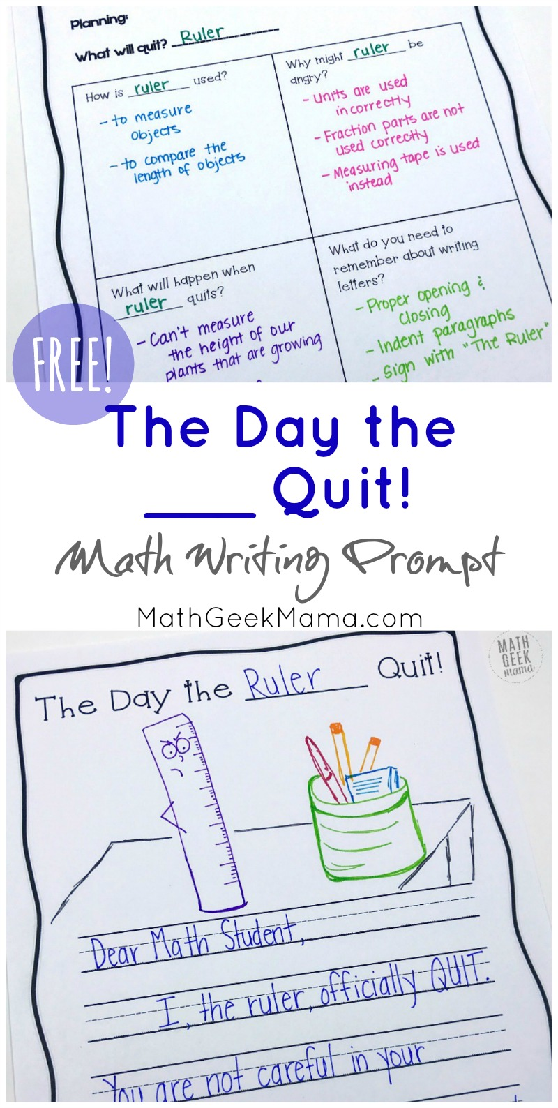 hight resolution of FREE} Creative Math Writing Prompt: The Day the __ Quit!