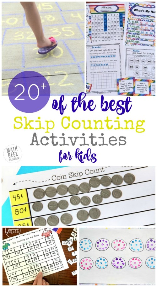 small resolution of 20+ Unique Skip Counting Activities Kids Will Adore