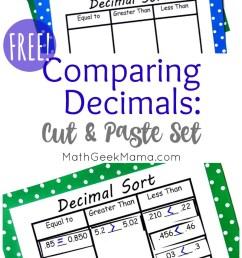 Compare Decimals Cut \u0026 Paste Sort {FREE!} [ 1512 x 800 Pixel ]