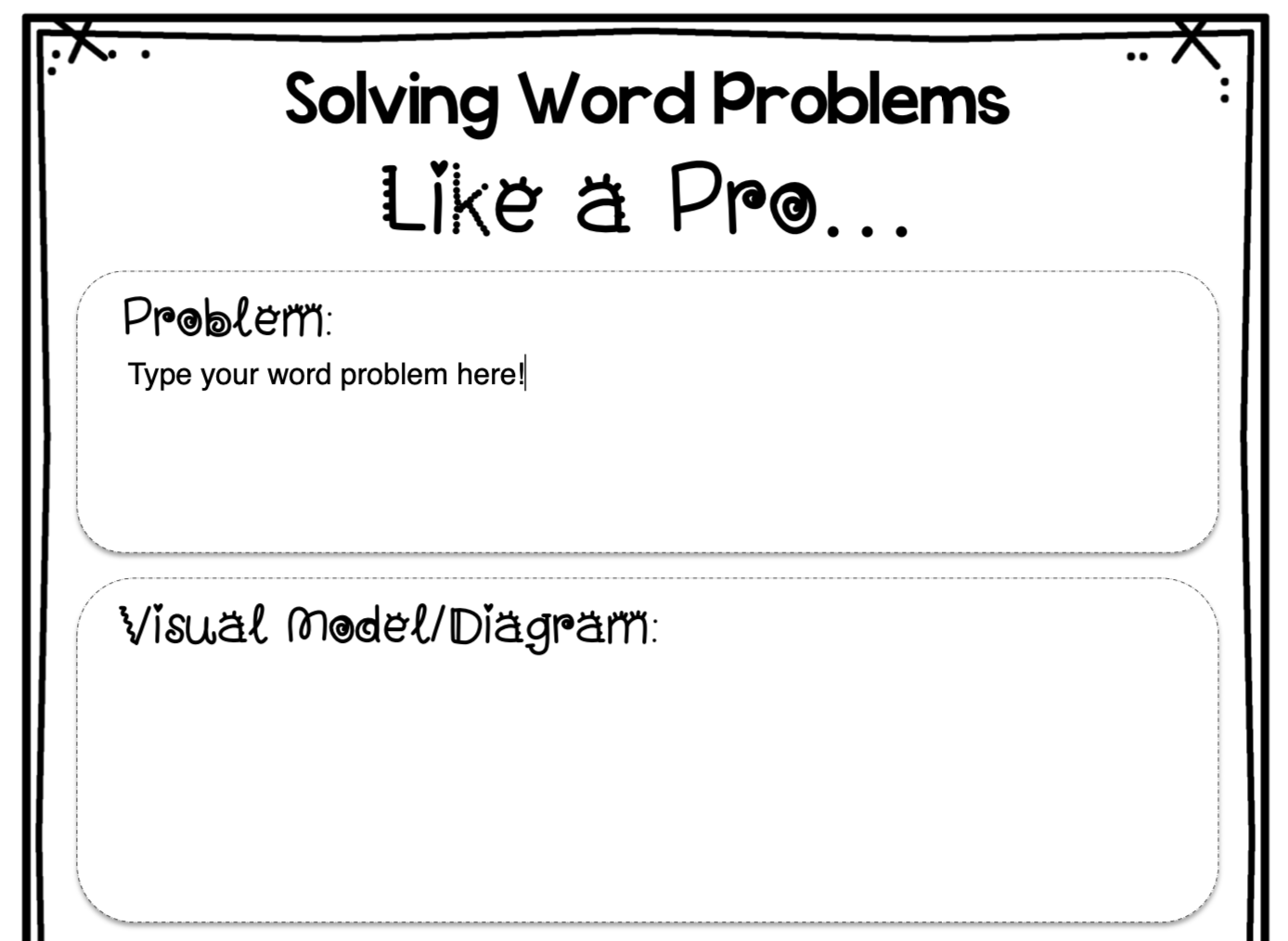 hight resolution of FREE} Editable Word Problem Templates: Help Kids Make Sense of Word Problems