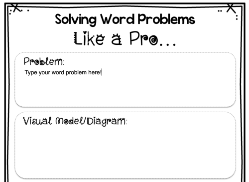 small resolution of FREE} Editable Word Problem Templates: Help Kids Make Sense of Word Problems