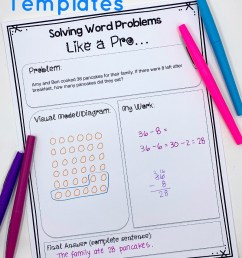 FREE} Editable Word Problem Templates: Help Kids Make Sense of Word Problems [ 1188 x 800 Pixel ]