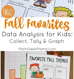 Fall Favorites: Simple Data Analysis for Kids {FREE} [ 1392 x 800 Pixel ]