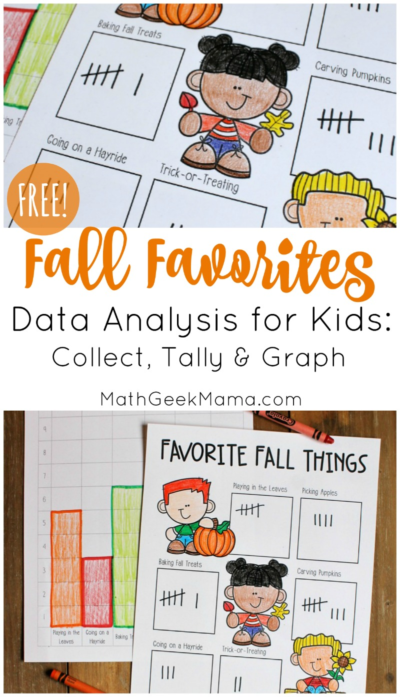 medium resolution of Fall Favorites: Simple Data Analysis for Kids {FREE}