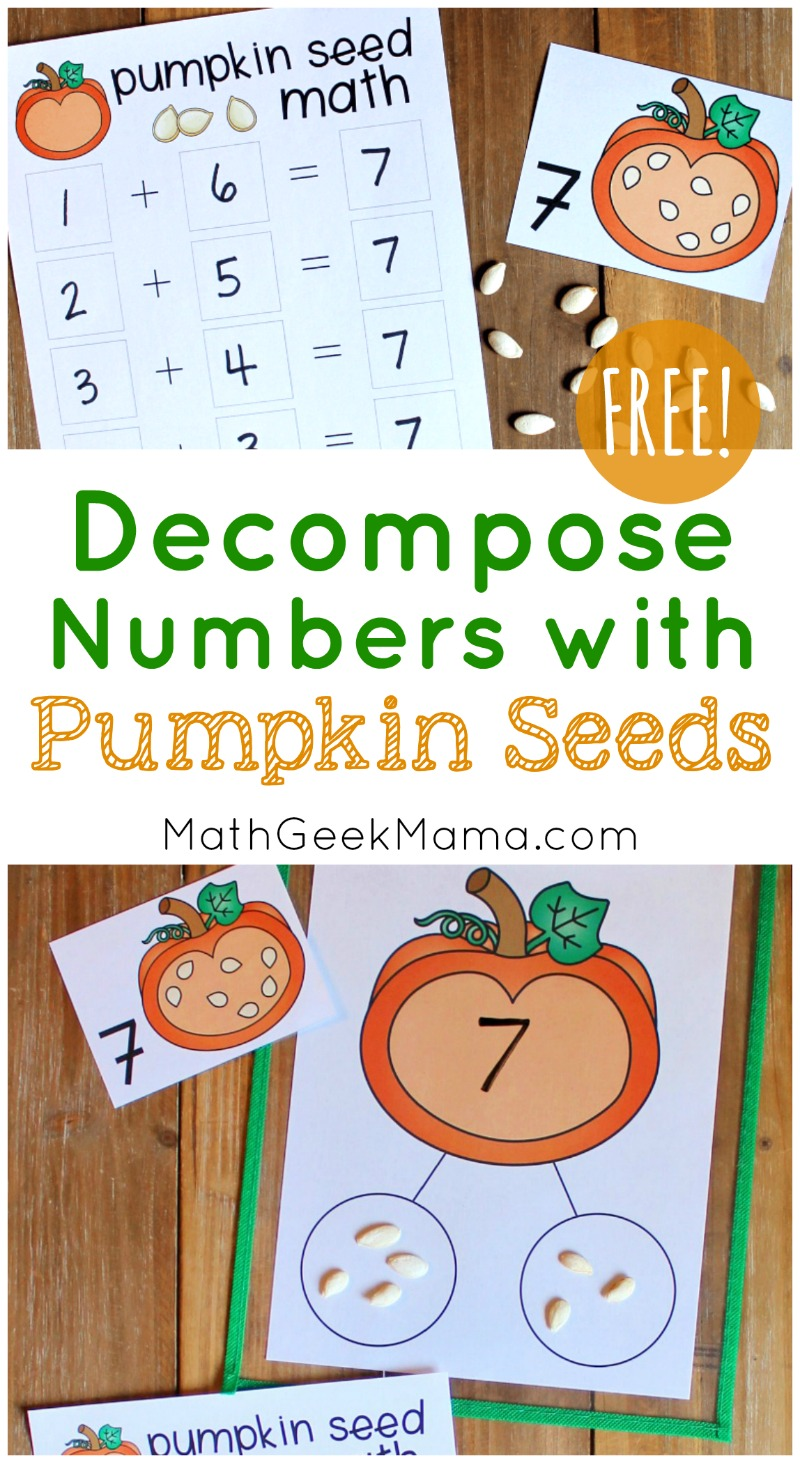 hight resolution of Hands On Pumpkin Seed Math with a Number Bond {FREE}