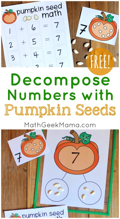 small resolution of Hands On Pumpkin Seed Math with a Number Bond {FREE}