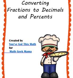 Convert Fractions to Decimals \u0026 Percents: FREE Puzzles [ 1188 x 914 Pixel ]